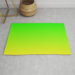 CHAMELEON GREEN & YELLOW Neon color ombre pattern  Rug