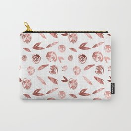 Rosette Rose Gold Carry-All Pouch