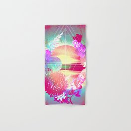 Sunset Floral Window Hand & Bath Towel
