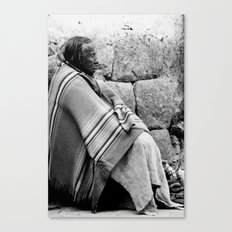 Old lady in Peru Canvas Print