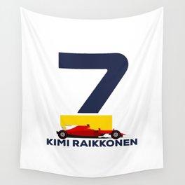 Kimi Raikkonen Logo Wall Tapestry