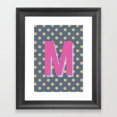 M is for Magical Framed Art Print