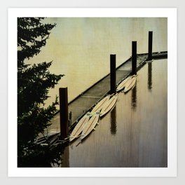 Rowing on the River Art Print