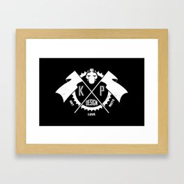 KP Design : Art - Love - Moto Crest Logo Framed Art Print