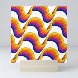Rainbow Ribbons Mini Art Print