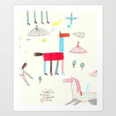 MerryGoRound Art Print