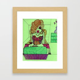Cartoon Chick Framed Art Print