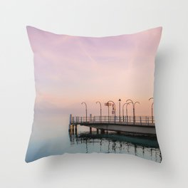 A Suspended Moment In Time Over The Lake Throw Pillow