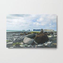 Coastal Stacks Metal Print