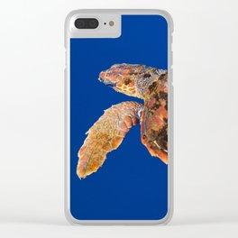 Loggerhead sea turtle Clear iPhone Case