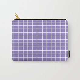 Squares of Lavender Carry-All Pouch