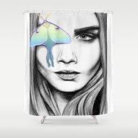 luna Shower Curtains featuring Luna by aubreylynna