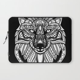 Hand Drawn Fox - Black Laptop Sleeve
