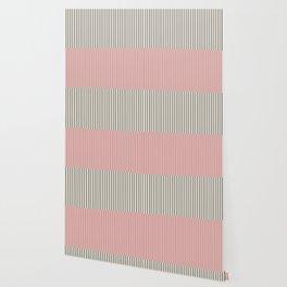 Color Block Lines XIV Vintage Pink Wallpaper