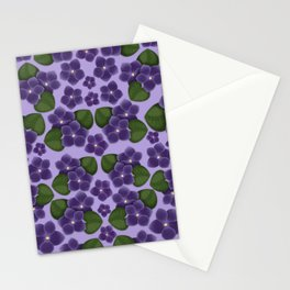 Violets are purple Floral Pattern Blossoms Stationery Cards