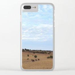 Landscape & Horses Clear iPhone Case