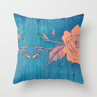 Rose Gold Throw Pillow