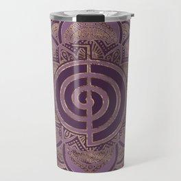 Reiki Cho Ku Rei - pastel and gold Travel Mug