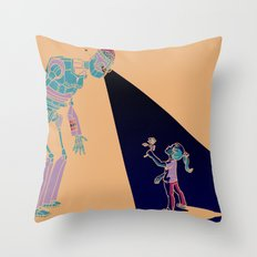 Robot Number 3 and Me Throw Pillow