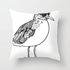 cool Seagull Throw Pillow
