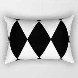 LARGE BLACK AND WHITE HARLEQUIN DIAMOND PATTERN Rectangular Pillow