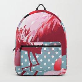 Watercolor Flamingo Pattern 4 Backpack