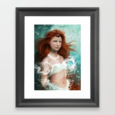 Daughter of the sea Framed Art Print
