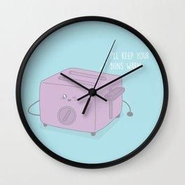I'll Keep Your Buns Warm #kawaii #toast Wall Clock