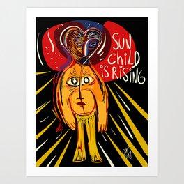 Sun Child is Rising Street Art Graffiti  Art Print