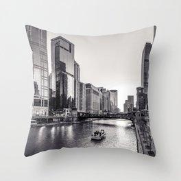 Silver River Throw Pillow