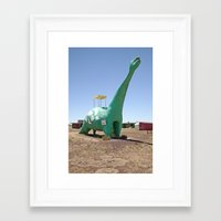 dino Framed Art Prints featuring dino by Natalie Jeffcott