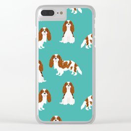 Cavalier King Charles Spaniel blenheim coat dog breed spaniels pet lover gifts Clear iPhone Case