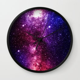 Interstellar Nebula Wall Clock