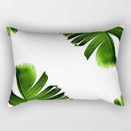 Green banana leaf Rectangular Pillow