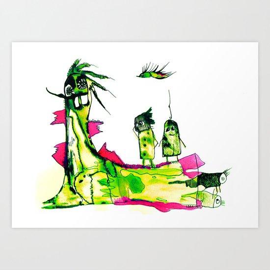 Cute Drawing Art Print