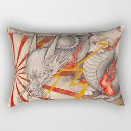 雲龍図 黒龍 天道-cloud dragon- Rectangular Pillow