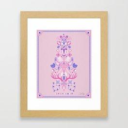 La Vie & La Mort – Pink & Periwinkle Framed Art Print