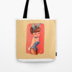 vintages blue bunny  Tote Bag