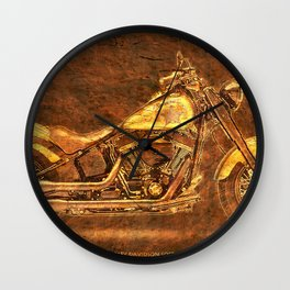 2016 HARLEY Original artwork on stone Wall Clock