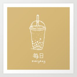 Bubble Tea/ Boba (mainichi) Art Print