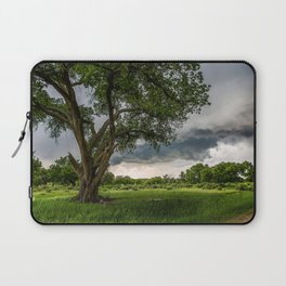 Big Tree - Tall Cottonwood and Passing Storm in Texas Laptop Sleeve