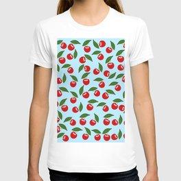Red Cherry Pattern T-shirt