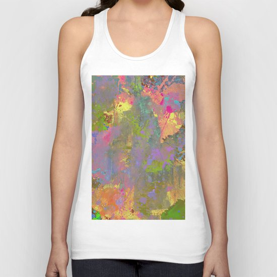 Messy Art II - Abstract, pastel coloured artwork in a random, chaotic, messy style Unisex Tank Top