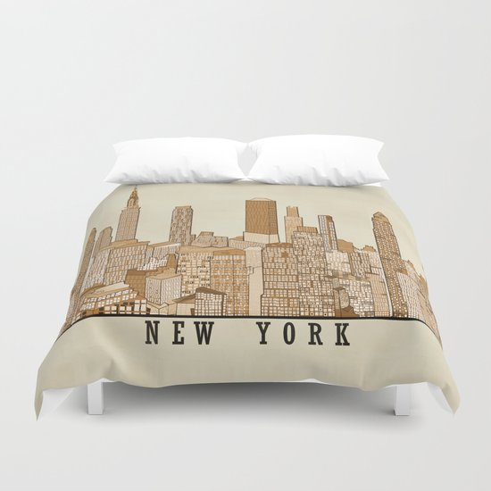 new york vintage (option) Duvet Cover