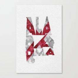Alabama Typographic Flag Map Canvas Print
