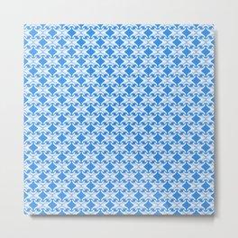 Quadrille - Blue & White Metal Print