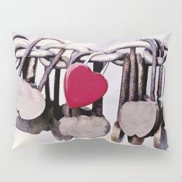Red Heart Locket Pillow Sham