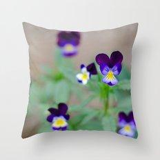 Violas Throw Pillow