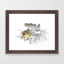 Largemouth Black Bass Fishing Art Framed Art Print