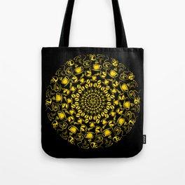 Yellow coffee mandala Tote Bag
